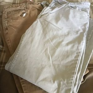 2 FOR $15 2 pairs of khaki color denim jeans 36x30